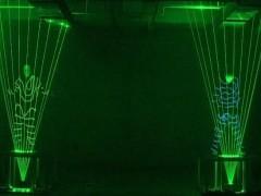 激光机器人 街舞激光舞 双人古筝激光舞视频连接