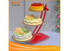 16年专业亚克力定制蛋糕展示架,有机玻璃时尚展示