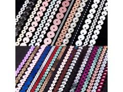 广东汕头龙琦亮片连线片 珠片服饰辅料皮革植绒哑光亮片多种材质