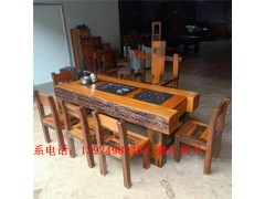 原生态家具老船木茶几客厅接待沙发配套功夫茶桌现代中式