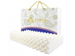 ANMTIK泰国天然乳胶枕批发泰国本土生产高低按摩枕